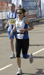 Jewel runs Brighton Marathon