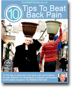Brighton Chiropractor, Matthew Bennett, Reveals 10 Top Tips To Help Treat And Cure Back And Leg Pain