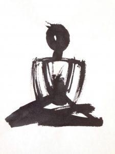 Sitting 2 calligraphy