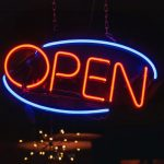 Open sign, Sundial, chiropractor, Brighton